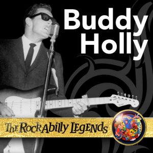 Buddy Holly with guitar