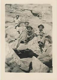 1943.Jerry.Nell.&Friend(Kenneth)w.Dad,ChalkMt